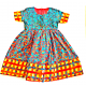 Ethnic (African) Girl Dress Multi-Color 3T
