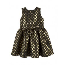Andy and Evan Jaquard Dot Girl Dress (2T-6)