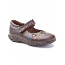 Brown Hearts Janie Mary Jane Girl Shoe