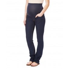 Dark Wash Over-Belly Maternity Straight-Leg Jeans
