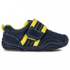 Pediped Grip 'n' Go™ Adrian Navy/Yellow (Toddler Boy Shoe)