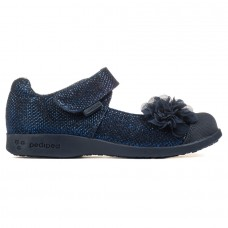 Pediped Flex® Estella Navy (Girl Casual/Dress Shoes)