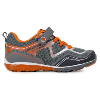 Pediped Flex® Force Grey/Orange Running Shoes