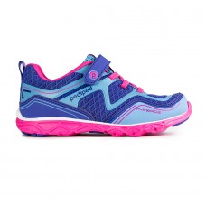 Pediped Flex® Force Navy/Fuchsia (Little/Big Girl Sneakers)