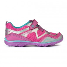 Pediped Flex® Force Pink/Silver (Girls Running Shoe)