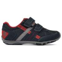 Pediped Flex® Gehrig Navy, Cherry (Little/Big Boy Shoes)