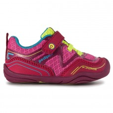 Pediped Grip 'n' Go™ Force Fuchsia (Baby Girl Sneaker Shoe)