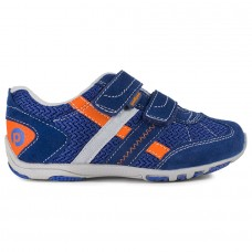 Pediped Flex® Gehrig Night Blue/Orange Boys Shoes