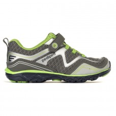 Pediped Flex® Force Grey/Lime (Little/Big Kid Sneakers)