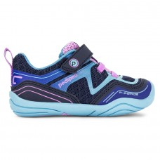 Pediped Grip 'n' Go™ Force Navy/Sky Girls Sneakers
