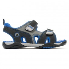 Pediped Flex® Navigator Black King Blue (Boys Sandals)