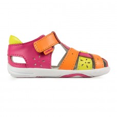 Pediped Grip 'n' Go™ Nikki Pink/Orange (Baby Girl Sandals)