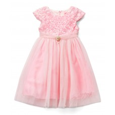 Pink Floral Bow A-Line Dress - Infant, Toddler & Girls