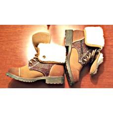 Cute Toddler Girl Brown Boot