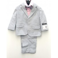 Toddler Boy Formal Suit (Stripe)