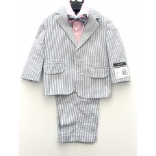 Toddler Boy Formal Suit (Stripe) 18M