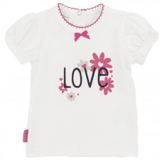 St Tropez Girl Short Sleeve T-Shirt White (Preemie, 3M, 6M, 12M)