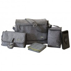 Large Heather Grey Diaper Bag for Moms