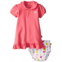 Magnificent Baby-Girls Newborn Polo Dress with Diaper Cover, Hot Pink, 3 Months